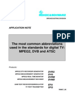 The Most Common Abbreviations in DVB