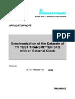 Synchronization of DVB TX With External Clock