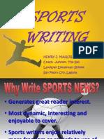 Presentation on Sports Writing 2013-14