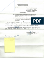 RTI response from Transport Dept