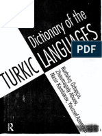 37.Dictionary of the Turkic Languages