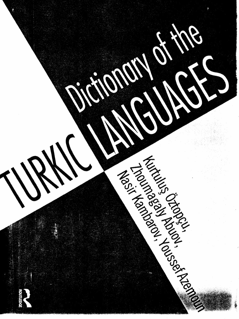 37dictionary Of The Turkic Languages Alphabet Adjective