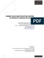 Ricardo Vargas Earned Value Analysis Control Projects Success Failure En