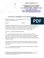 AE NonDisclosure Confidentiality NonCompetition Agreement ENG 02062012