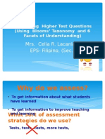 Developing Higher Test Questions Using 6 Facets