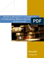 Ekdi - 'Vertical_Restraints & Foreclosure'