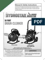 50 Ft Drain Cleaner.