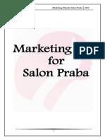 marketing plan for salon praba-120115083508-phpapp02