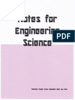 NOTES FOR ENGINEERING SCIENCE (SEM 1)