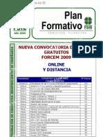 NUEVA CONVOCATORIA DE CURSOS GRATUITOS FORCEM 2009 / http://www.edpformacion.co.cc