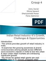 Indian Retail Industry-It's Growth, Challenges & Opportunities