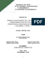 Manejo Sostenible de Los Recursosagroforestales de Areas Fronteriza Brasil Colombia Peru