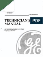 GE Built in Dishwashers Generation II Technicians Service Manual
