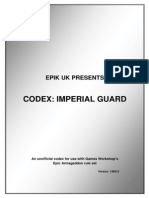 Epic UK Codex Imperial Guard