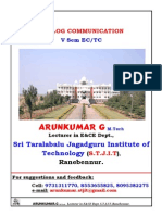 00 0 5th Sem Ec Analog Communication Notes by Arunkumar g Lecturer Stjit Ranebennurg