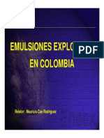 Emulsiones Encartuchadas