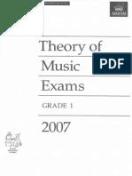 Abrsm Grade 1 2007