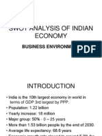 Business Environment Swot Analysis of Indian Economy