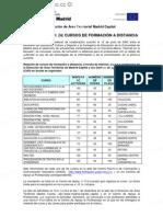 CONVOCATORIA DE CURSOS DE FORMACIÓN A DISTANCIA