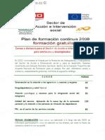 Cursos a distancia para el Sector de acción e intervención social
