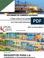 Como Colocar Tus Productos en El Mercado Internacional-Promperu