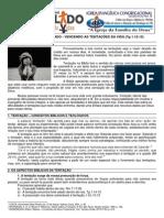 LIÇÃO 04 - DISCIPULADO -  VENCENDO AS TENTAÇÕES DA VIDA