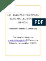Triana, Y Antorveza - Las Lenguas Indigenas En El Ocaso Del Imperio Español