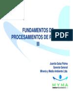 Fundamentos de Procesamientos de Relaves-III