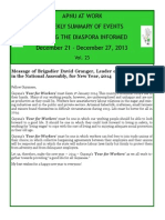 Disaspora News - December 21 - 27, 2013