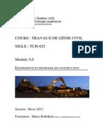 Module Terrassement H-12 - ETS