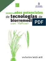 Vetiver, Mercados potenciales de tecnologías de biorremediación