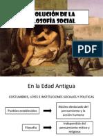 EVOLUCIÓN DE LA FILOSOFÍA SOCIAL