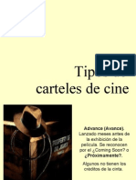 Tipos de Carteles de Cine