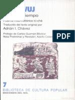 Pop Wuj - Traducción de Adrián Inés Chávez