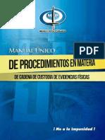 Manual Unico de Procedimientos en Materia de Cadena de Custodia de Evidencias Fisicas