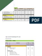 Apex - Manufacturing Document Sheet