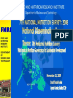Overview of the 2013 Philippine National Nutrition Survey