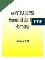 Kontrasepsi Hormonal Non Hormonal