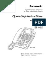 panasonic kx t7433 telephone telephony rh scribd com panasonic kx-t7433 operating manual Panasonic Kx T7433 Overlay
