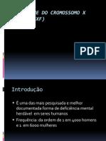 A síndrome do cromossomo X frágil (SXF