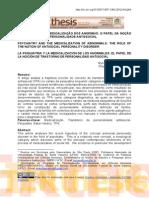 A PSIQUIATRIA E A MEDICALIZAÇÃO DOS ANORMAIS - O PAPEL DA NOÇÃO DE TRANSTORNO DE PERSONALIDADE ANTISSOCIAL
