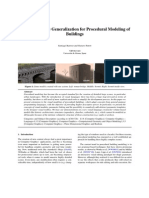 Visual Language Generalization for Procedural Modeling of Buildings