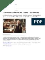 Gandirea Salbatica de Claude LeVi-Strauss