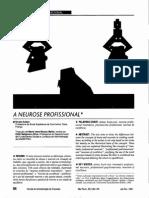 A Neurose Profissional