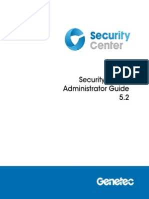 En security Center Administrator Guide 5 2 | Server
