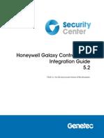 En.honeywell Galaxy Control Panel Integration Guide 5.2