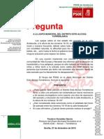 Pregunta - Calle Andalucita - JMD Este Enero 2014