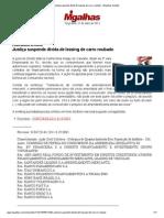 Justiça suspende dívida de leasing de carro roubado - Migalhas Quentes.pdf
