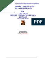 El Libro de La Renovacion y de La Restauracion Paracelso