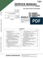Sharp VCR Manual VCA582U